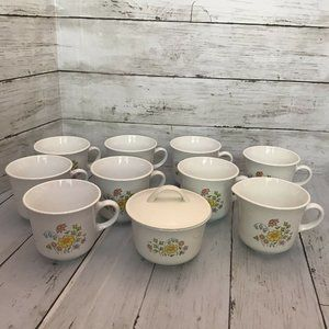 Vintage Corning Corelle Spring Meadow Set of 8